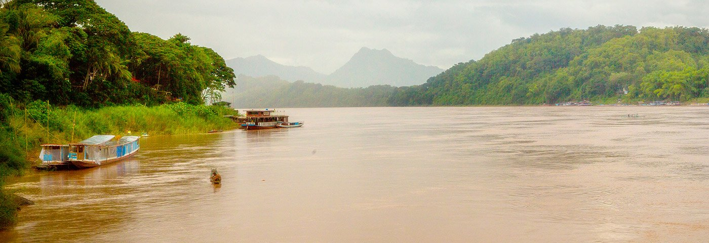 Mekong-Panorama in Laos